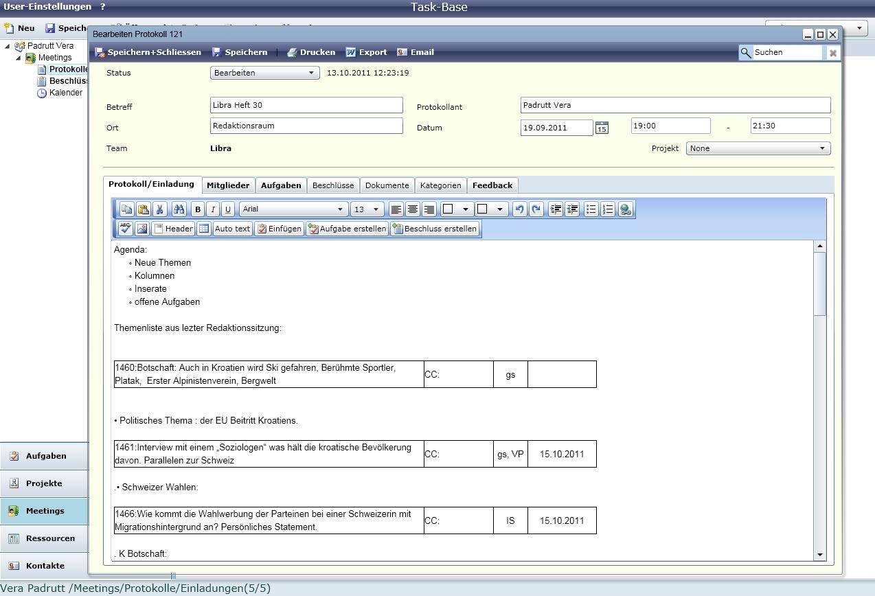 Projektverwaltung, Aufgabenverwaltung, Ressourcenplanung ...